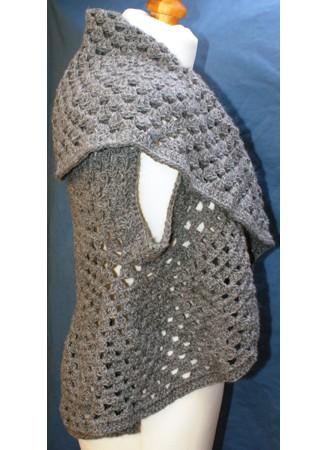 Crocheted Waist Circle Jacket