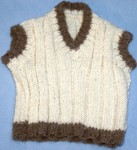 V neck sleveless jumper