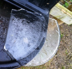 frozen water troughs