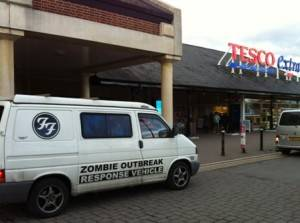 zombie attack at tescos